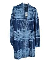NEW Women's H /HALSTON Open Front Knit Cardigan BLUE w/Pockets  XS