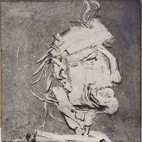 Endre Szasz (1926-2003): Portrait of an old man, monotype