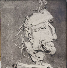 Endre Szasz (1926-2003): Portrait of an old man, Monotype