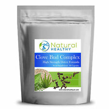 60 Clove Bud Extract Complex Detox Capsules - High Quality UK Product Detox Diet