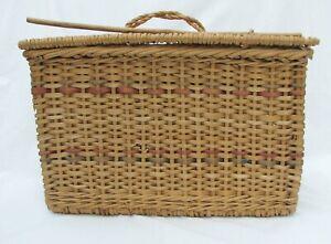 Vintage (Antique)  Wicker Picnic Basket