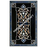 5'x3' Marble Dining Table Top Marquetry Inlaid Art Home Decor Furniture E606A1