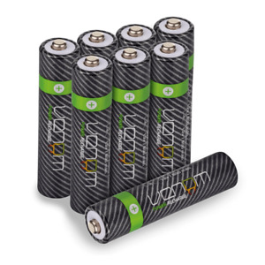 Rechargeable AAA Batteries - 800mAh High Capacity - Venom Power - Pack of 8