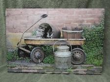 Milk Wagon Canvas Home Decor Billy Jacobs Barn Farm House