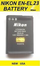 New Nikon EN-EL23 OEM Li-ion Battery for Nikon Coolpix P600 S810c Cameras