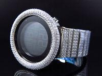 Mens Icy Techno Art Joe Rodeo Bling Master White Lab Simulated Diamond Watch