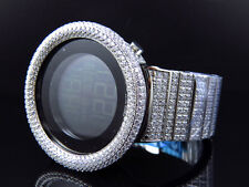 Mens Icy Techno Art Joe Rodeo Bling Master White Lab Simulated Diamond Watch