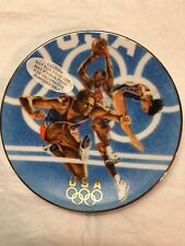 """1996 Team Usa Commermorative Plate Avon Trimmed In 22K Gold 5"""""""