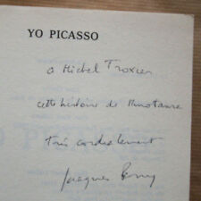 Yo PICASSO Jacques PERRY éd JC Lattès 1982 DEDICACE
