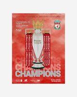 Liverpool v Chelsea 22/07/20 Premier League Official Programme Champions