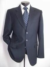 NWOT Blue Stripe 3 Buttons Wool blend Modern Suit Pants Coat 38 R