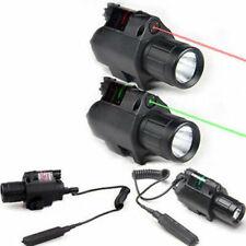 New Tactical Red/Green Dot Laser Sight LED Flashlight Combo Picatinny Rail US