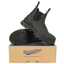 Blundstone Black Safety Steel Toe Cap Dealer Slip on S3  Boots Chelsea 910