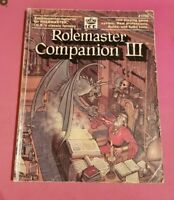 ROLEMASTER COMPANION III 3 - ICE MERP SHADOW WORLD RPG ROLEPLAYING ROLEPLAY RARE
