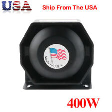 400W Compact Siren Horn Loud Speaker Safety Warning Alarm PA System Amplifier