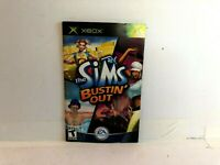Sims Bustin Out Original Xbox MANUAL INSERT ONLY Authentic