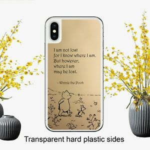 Winnie The Pooh Lost Quote Drawing Case Cover for iPhone Samsung Huawei Google