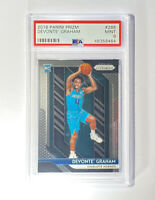 2018-19 Panini Base Prizm #288 Devonte Graham RC Rookie PSA 9 Hornets