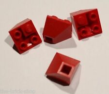4 x LEGO red slope brick ref 3676 / Set 7419 5590 6597 10159 4539 5764 ....