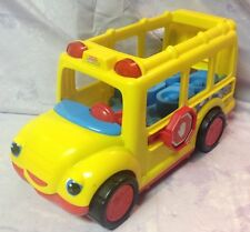 Fisher Price Little People School Bus Lights Sounds Yellow Vintage Toys
