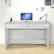 White Computer Desk Laptop PC Desktop Table 2 Drawers Workstation Home Office