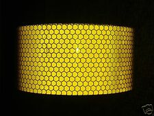 3M X 25MM ROLL HIGH INTENSITY REFLECTIVE TAPE YELLOW SELF ADHESIVE VINYL HI VIZ