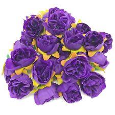 Purple Rose Bud Decorative Synthetic Flowers (Faux Silk) - UK SELLER