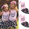 Kids Baby Girls Outfits Clothes Summer Vest T-shirt Tops + Princess Skirt Dress