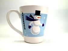 Starbucks Holiday Ceramic Coffee Mug Christmas Snowman Bunny Rabbit 2011 Tea Cup
