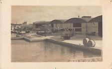 RPPC Royal Navy Soldier Slipway Curtiss H-4 Seaplane Malta WWI Photo Postcard