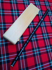 Professional D Flute African Black Wood Natural Finish Free Wooden Case/D Flute