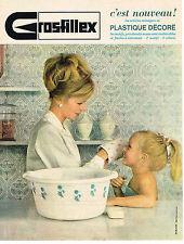 PUBLICITE ADVERTISING  1963   GROSFILLEX  plastiques