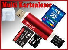 Micro SD Card Reader m2 lector de tarjetas SDHC USB adaptador rojo