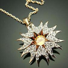 CHAIN AND PENDANT SUN'S ZIRCONIUM GOLD 9 KT GOLD FILE (REBATE)