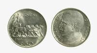 s715_3) Vittorio Emanuele III (1900-1943) - 50 Centesimi Leoni 1920 L frattura