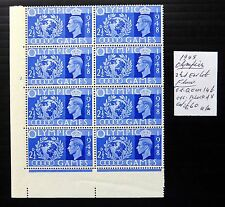 """GB 1948 Olympic Games with """"Ear Lob Flaw"""" As Described Block of 8 U/M NB2663"""
