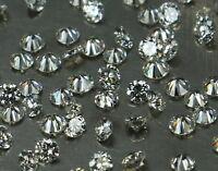 Natural Loose Diamond Round Shape G H White Color SI1 VS1 Clarity 25 Pcs Lot Q14