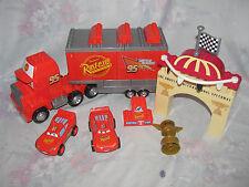 Mega Blok Disney Cars Lot - Mack Trailer, Lightning McQueen 7767 Piston Cup