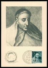SPAIN MK 1954 TELLEZ DRAMATIST WRITER TIRSO DE MOLINA MAXIMUM CARD MC CM am72