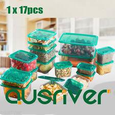 17Size Plastic Food Storage Container Set Freezer Storage Microwave Save Kitchen