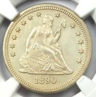 1890 PROOF Seated Liberty Quarter 25C - Certified NGC Proof Details (PF / PR)