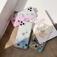 Case For iPhone 12 Pro Max 11 XR XS 8 7 App Icon Moving Glitter Quicksand Cover