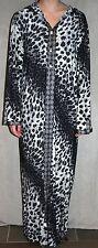 "LEOPARD PRINT dress PLUS SIZE tunic 50"" bust stretch long sleeve XL grey/black"