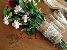 Hessian And Lace Bouquet Wrap