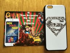 COVER Custodia RIGIDA Slim SUPERMAN DC COMICS iPHONE 6 6s 4.7 + Pellicola