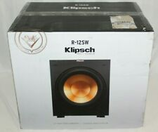 Klipsch R-12SW Reference Powered Subwoofer Phase Control Digital Amplifier Black