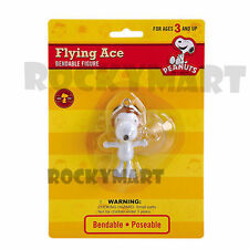 Peanuts SNOOPY FLYING ACE Bendable ( DANGLER ) Figure Suction Cup Window RM1862