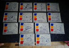 Lot d'Anciennes Images à Peindre Café VIGOR Formant Palette à 3 Peintures