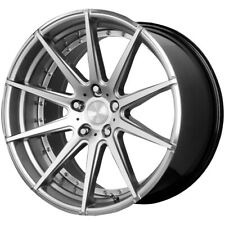 Staggered Verde V20 Insignia Front: 22x9, Rear: 22x10.5 5x112 Silver Wheels Rims
