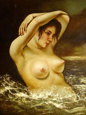 """Gustave_Courbet - NUDE  Replica Oil Painting - size 28""""x36"""""""
